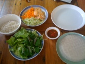 Ingredients for Goi Cuon