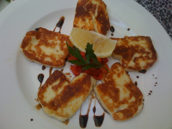 Haloumi with balsamic reduction