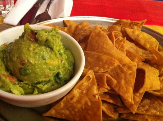 corn chips and guacamole at Baja Cantina Glebe