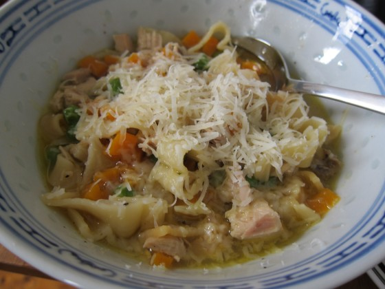 chicken noodle soup comfort food