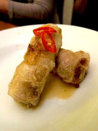 Rice paper spring rolls with nam jim