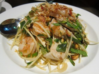 pork and prawn salad with green papaya