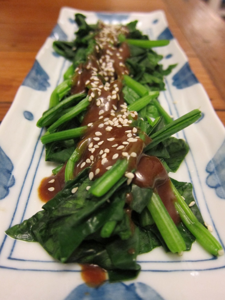 Japanese spinach with sesame