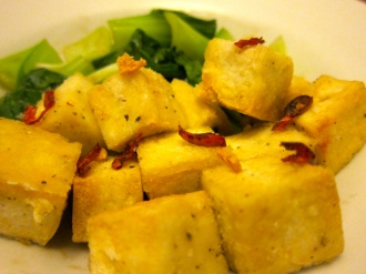 Crisp salt and chilli tofu